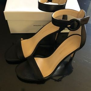 Marc Fisher Leather Sandals w/Ankle Strap - Bettye